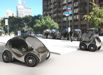 Das faltbare E-Auto Hiriko kommt 2013 serienmäßig auf die Straße.