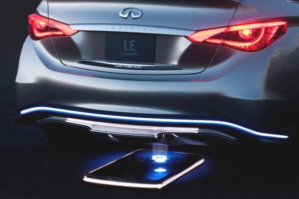 """Das E-Auto """"Concept LE"""" von Infinity lässt sich via Induktionsschleife aufladen. Ein zukunftsweisendes Konzept?"""