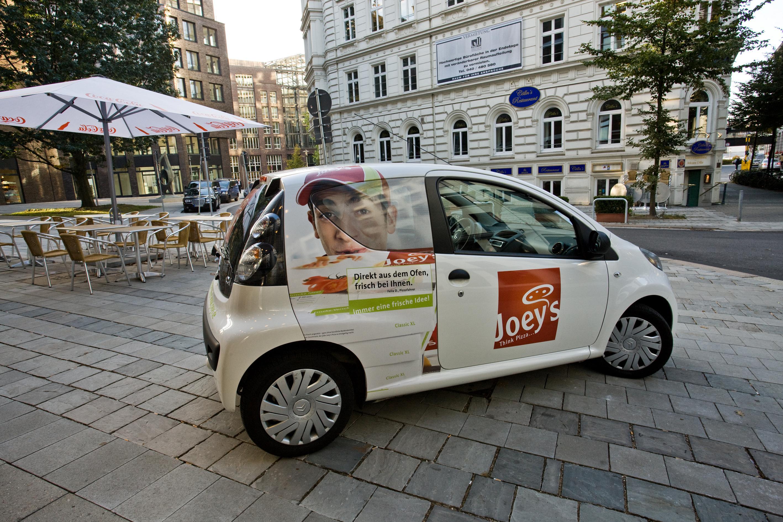 Joey´s Pizza testet in Hamburger Filiale E-Fuhrpark