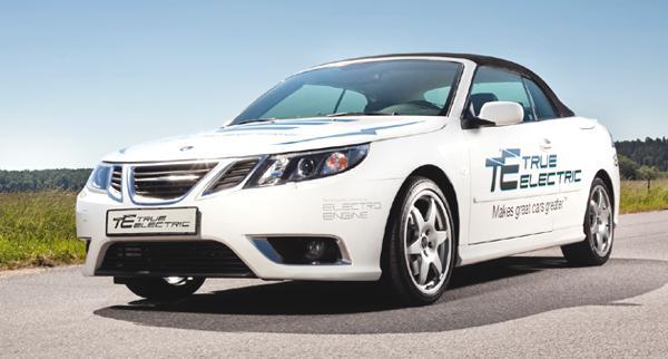 Bild: © Saab/NEVS 2011/2012 - Der Saab 9-3 ePower kommt mit 184 PS und 150 km/h daher