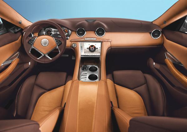 Bild: © Fisker Automotive 2012 - Auch im Innenraum ein wahrer Hingucker: Fiskers Karma