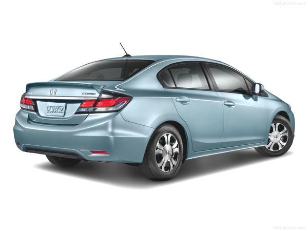 Bild: © Honda - 2012 - Kostet auf dem US-Makrt umgerechnet rund 18 500 Euro: der Honda 2013 Civic Hybrid