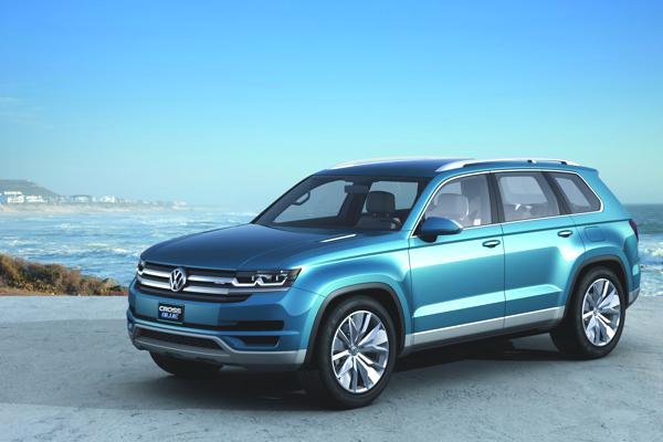 Bild: © VW/Auto-Reporter.NET - Viel versprechene Studie von VWs Midsize-SUV CrossBlue